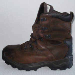 ROCKY MENS BROWN LEATHER ANKLE BOOTS SIZE 9.5 M